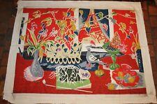 """Superbe tapisserie de Jules Cavaillès """" l'Atelier du peintre """" 124 cm x 155 cm"""