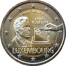 2 euros Luxembourg 2019 centenaire du suffrage universel neuve UNC PREVENTE