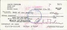 Arch Oboler authentic signed autographed personal bank check