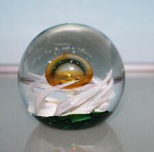 Selkirk Studio Art Glass Paperweight Sunkissed 2000 Bubble Scotland