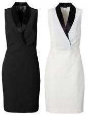 Etuikleid schwarz oder weiß Gr. 34 36 38 40 42 44 46 48 Damen Kleid Cocktail