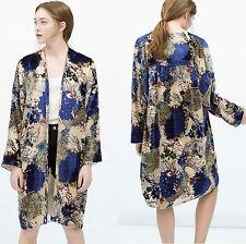 Zara Knee Length Floral Coats & Jackets for Women