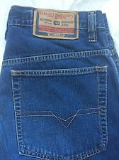 DIESEL SNAKEX Size 31 JEANS BAGGY LOOSE FIT Bootcut Medium Wash Rare Mint