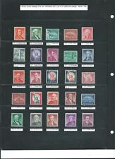 Cat no. 1030 - 1052; Liberty Stamps Series, set of 25 different MINT NH stamps.