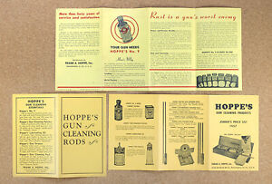 3 Vintage 1940s 1950s Hoppe's Gun Cleaning Flyers Brochures from Co. Archives