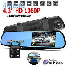 "Mini Car Reverse Parking Camera With 4.3"" LCD Rear View Mirror Monitor Kit UK"