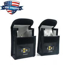 2Pcs Fireproof LiPO Battery Safe Guard Bag Protective Case for DJI Spark