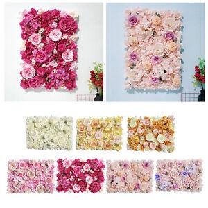 "Flower Panels 24""x16"" Flower Wall Screen Romantic Artificial Floral Backdrop"