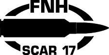 FNH SCAR 17 gun Rifle Ammunition Bullet exterior oval decal sticker car or wall