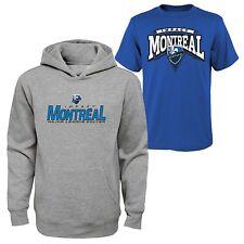 MLS Youth Boys 8-20 Montreal Impact Tee & hood Set, M(10-12) NWT