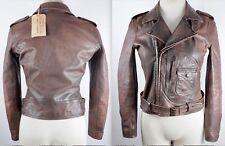 BNWT New  RRL Ralph Lauren Collection sz 1 / XS leather jacket coat brown $2200