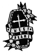 Patche cercueil sweet dreams écusson patch mort rock badge thermocollant