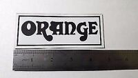 Orange plastic logo new style badge white color 120 mm = 4 11/16''