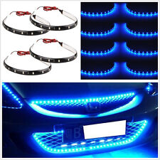 8 Pcs 12V Waterproof 15LED 30cm Car SUV Grille Light Strip Footwell Floor Lights