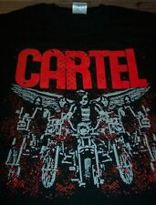 CARTEL BAD DUDES BAND Motorcycles Angel Wings T-Shirt LARGE NEW