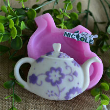 Nicole Teapot Resin Clay Crafts Molds Silicone Fondant Cake Decoration Moulds