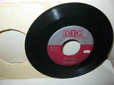 RARE  JULIE STEVENS & PREMIERS 45 RPM RECORD   DIG #115  CRAZY BELLS 1956 1ST ED