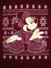Mickey Mouse Winter Christmas Xmas Holiday Walt Disney World  hip hop T Shirt L