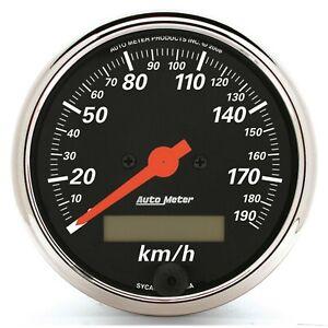 Autometer Designer Black Speedometer 0-190 KM/H 3-1/8in