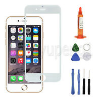"White Front Screen Glass Lens Replacement + UV LOCA Glue Tools for 4.7"" iPhone 6"