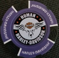 Harley Davidson Poker Chip (Purple/Black) HUMAN HD~Bloemfontein, South Africa