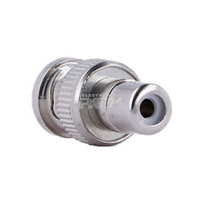 Conector RF Coaxial tipo BNC Macho a RCA Hembra CCTV Metálico Plata v627