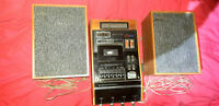 Vintage stero sound productions ltd.C.66 Cassette Player / Recorder +  speakers
