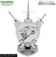 Metal Earth ICONX Game of Thrones HOUSE STARK SIGIL 3D DIY Model Building Kit
