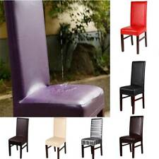 Dining Chair Covers PU Leather Waterproof Slip Chair Cover Home Banquet Decor CO