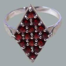 Size 8,25 Bohemian Rose Cut Garnet Sterling Silver Ring # SR-689 Jewelry Certifi