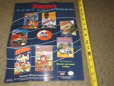 Nintendo NES Promotional Foldable Poster