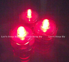 12 Red Submersible Wedding Floralytes LED candle light