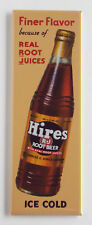 "Hires ""Finer Flavor"" Root Beer FRIDGE MAGNET (1.5 x 4.5 inches) sign drink soda"