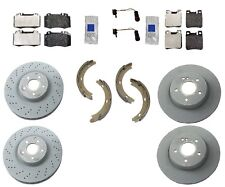 Mercedes W209 CLK500 Coupe / Conv GENUINE Complete Brake KIT Rotors Pads Sensors