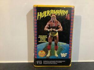 HULKAMANIA 4. 1989 VHS/PAL WWF/WWE CLAMSHELL