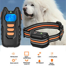 Rechargeable Pet Dog Training Collar Electric Shock/Vibrat Waterproof Remote LCD