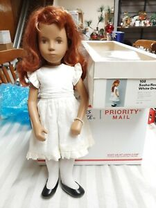 Sasha Doll Red Head 108  Beautiful  White Dress-Rare!