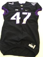 Game Worn Used Nike TCU Horned Frogs Football Jersey #47 Size L