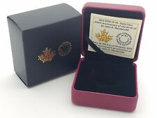 2015 Royal Canadian Mint $100 Gold Coin Anniversary Empty Red Leather Box COA