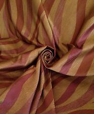 Prestigious Art Deco Flame Brocade Curtain Fabric Gold Aubergine 10 Metre Roll