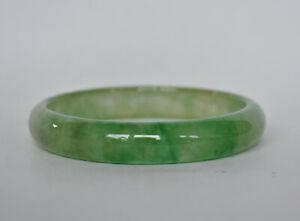 Vintage Antique Chinese Green Natural Jadeite Jade Bangle Bracelet