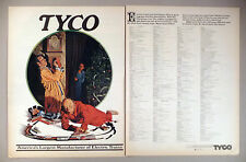 Tyco Toy Trains 2-Page PRINT AD - 1972 ~ Norman Rockwell-style art by Vinson