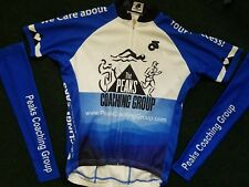 Cycling Women short Sleeve bike Jersey AND arm warmers size large
