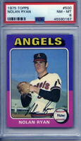 1975 Topps #500 Nolan Ryan Angels Baseball Card PSA NM-MT 8 Centered!