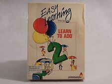 Easy Learning Spinnaker: Commodore 64, Apple IBM - Learn To Add - Disk & Box DB