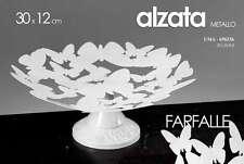 ALZATA PORTA TORTA IN METALLO BIANCO DECORO FARFALLE 30*12CM UMA-696336