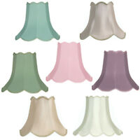 Oaks Lighting Cotton Scallop Lamp Shade 5-20 inch S701/6 Available in 7 Colours