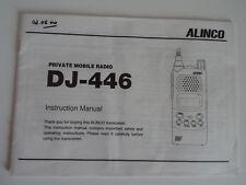 ALINCO DJ-446 (solo originale manuale di istruzioni)... RADIO _ Trader _ Irlanda.