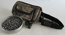 PELLET / BULLET POUCH AND BELT - NEOPRENE CAMO - AIR RIFLE - RABBIT HUNTING
