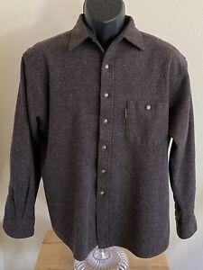 Vintage PENDLETON Trail shirt wool flannel Mens Size XL Brownish